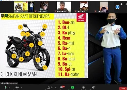 Capella Honda Webinar Safety Riding Bersama SMK Masmur