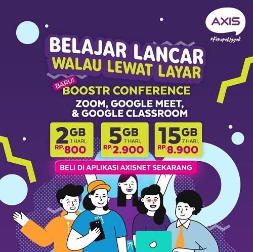 XL Axiata Hadirkan Paket AXIS Boostr Edukasi dan Conference