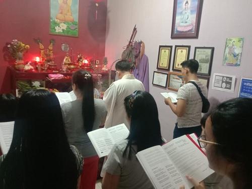 Perayaan Hari Besar Bodhisatva Mahasthamaprapta Berlangsung Sederhana